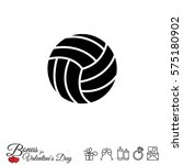 web icon. volleyball | Shutterstock .eps vector #575180902