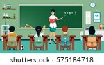teachers are teaching... | Shutterstock .eps vector #575184718