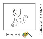 Colouring Kitten Vector With...
