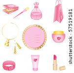 girly icon set | Shutterstock . vector #57519181