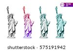 vector set of four colored...   Shutterstock .eps vector #575191942