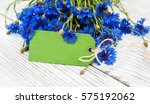 paper tag with blue fresh... | Shutterstock . vector #575192062
