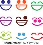 cartoon cute eyes | Shutterstock .eps vector #575194942