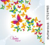 Stock vector colorful background with butterfly vector 57519985