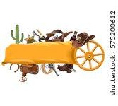 vector cowboy banner | Shutterstock .eps vector #575200612