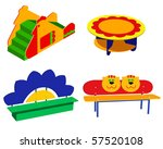 beautiful children's furniture... | Shutterstock .eps vector #57520108