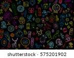 tribal ethnic elements ... | Shutterstock .eps vector #575201902