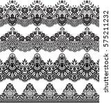 vector set with baroque... | Shutterstock .eps vector #575211232