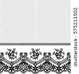 seamless lace pattern  flower...   Shutterstock .eps vector #575211502
