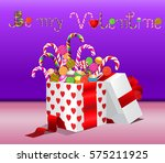 be my valentine written with...   Shutterstock .eps vector #575211925