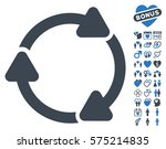 rotate cw icon with bonus amour ... | Shutterstock .eps vector #575214835