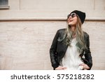 photo of young pretty lady...   Shutterstock . vector #575218282