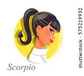 beautiful woman as scorpio...   Shutterstock .eps vector #575219932