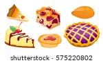 homemade organic pie dessert... | Shutterstock .eps vector #575220802