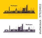 washington dc skyline design.... | Shutterstock .eps vector #575224012
