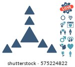 direction triangles pictograph... | Shutterstock .eps vector #575224822