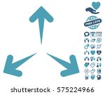 expand arrows pictograph with... | Shutterstock .eps vector #575224966
