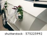 Close Up Of Floral Wreath On...