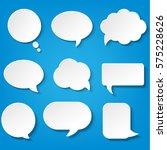 speech bubbles set with blue...   Shutterstock . vector #575228626