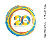 20 years anniversary abstract... | Shutterstock .eps vector #575231536