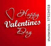 happy valentine's day lettering ... | Shutterstock . vector #575234518