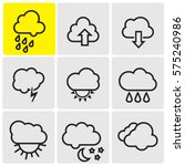 weather line icons | Shutterstock .eps vector #575240986