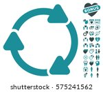 rotate cw icon with bonus... | Shutterstock .eps vector #575241562