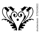 small flower patterns stencils | Shutterstock .eps vector #575242822