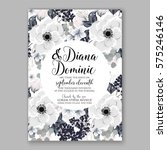 anemone wedding invitation card ... | Shutterstock .eps vector #575246146