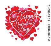 happy valentine's day greeting... | Shutterstock .eps vector #575248342