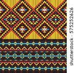 hand drawn tribal seamless... | Shutterstock .eps vector #575252626