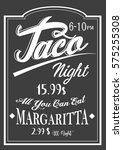 authentic vintage style taco...   Shutterstock .eps vector #575255308