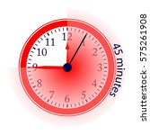 clock 45 minutes to go vector... | Shutterstock .eps vector #575261908
