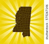 map of mississippi | Shutterstock .eps vector #575267146