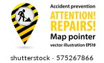 map pointer. repair work.... | Shutterstock .eps vector #575267866