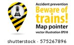 map pointer. beware of the... | Shutterstock .eps vector #575267896