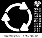 rotate cw pictograph with bonus ... | Shutterstock .eps vector #575270842