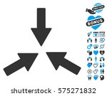 collide 3 arrows icon with... | Shutterstock .eps vector #575271832
