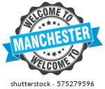 manchester. welcome to... | Shutterstock .eps vector #575279596