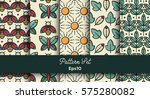 vector set of various seamless... | Shutterstock .eps vector #575280082