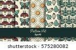 vector set of various seamless... | Shutterstock .eps vector #575280082
