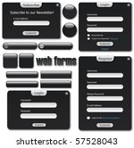 dark web template with forms ... | Shutterstock .eps vector #57528043