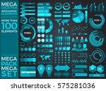 mega collection and mega set... | Shutterstock .eps vector #575281036