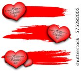 set of banners with happy... | Shutterstock .eps vector #575282002