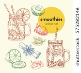 set of vector hand drawn... | Shutterstock .eps vector #575282146