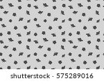 seamless pattern of tropical... | Shutterstock . vector #575289016