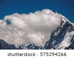 Close Up Of Snowy Peaks And...