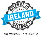 ireland. welcome to ireland... | Shutterstock .eps vector #575303422
