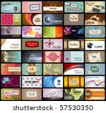 variety of 40 detailed... | Shutterstock .eps vector #57530350