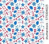 seamless pattern  sea symbols....   Shutterstock .eps vector #575304025